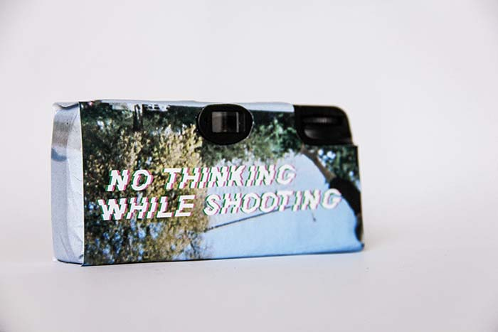 Disposable, camera, back, white, black, no, thinking, while, shooting