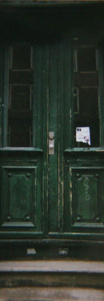 Disposable, camera, photo, green, door, street