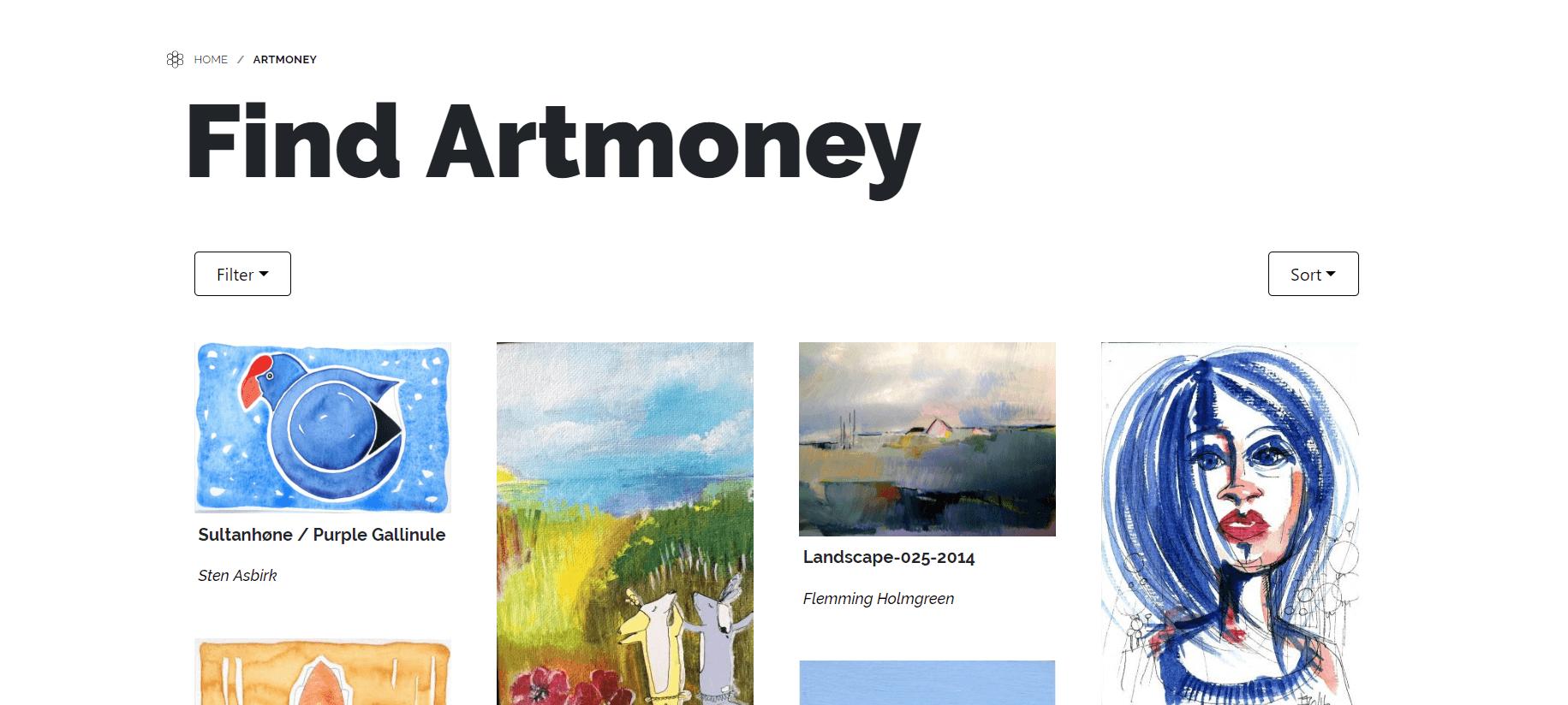 karoline, paarup, portfolio, website, project, artmoney, cover