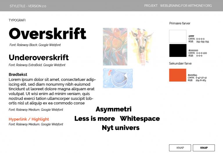 karoline, paarup, portfolio, website, project, artmoney, styletile