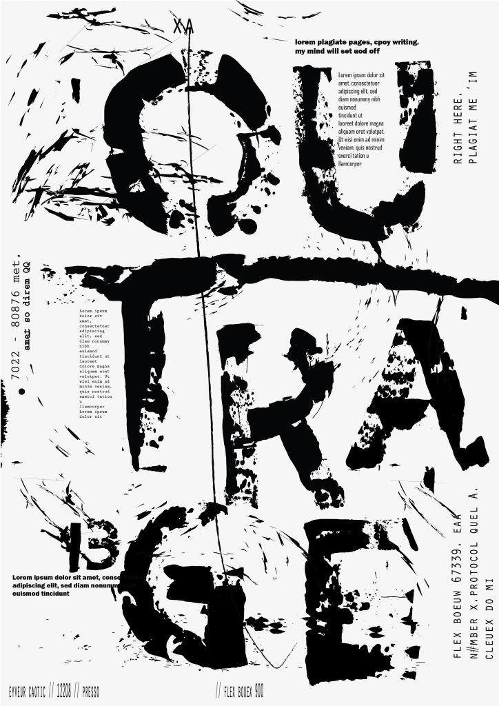 karoline, paarup, portfolio, website, project, typography, font, custom, outrage, poster