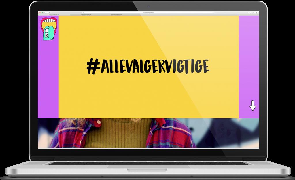 karoline, paarup, portfolio, website, project, kv17, allevalgervigtige, campaignwebsite