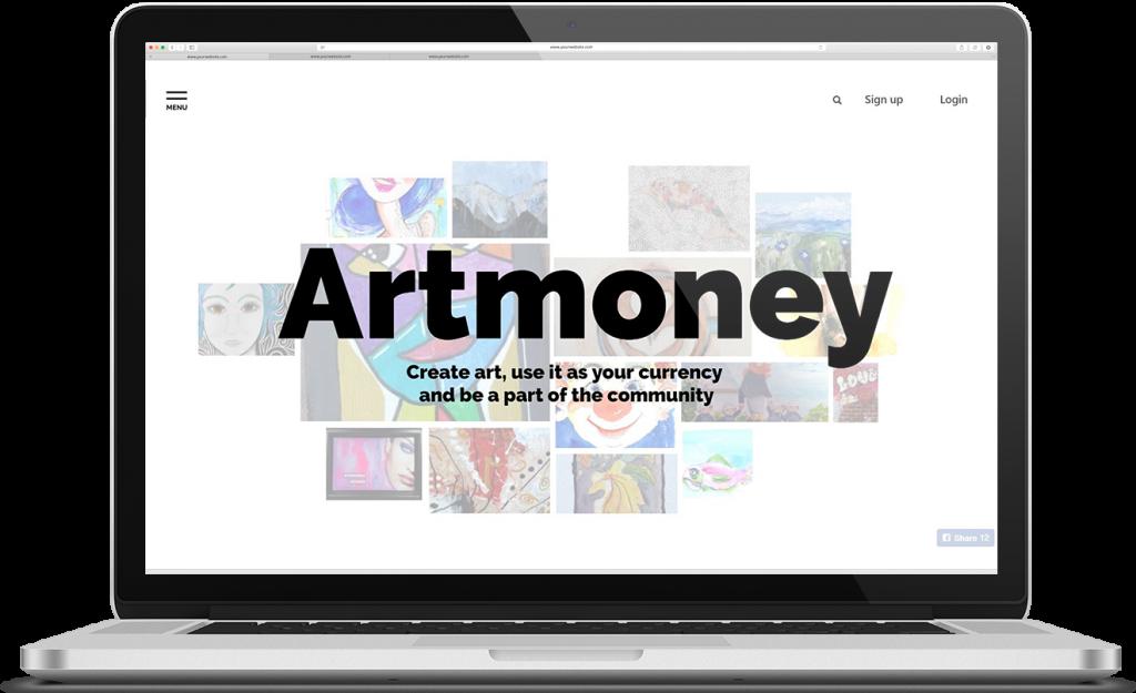 karoline, paarup, portfolio, website, project, artmoney, website