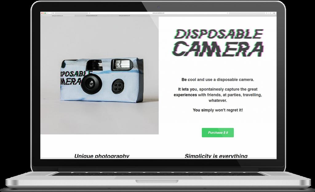 karoline, paarup, portfolio, website, project, micro, webshop, disposable, camera