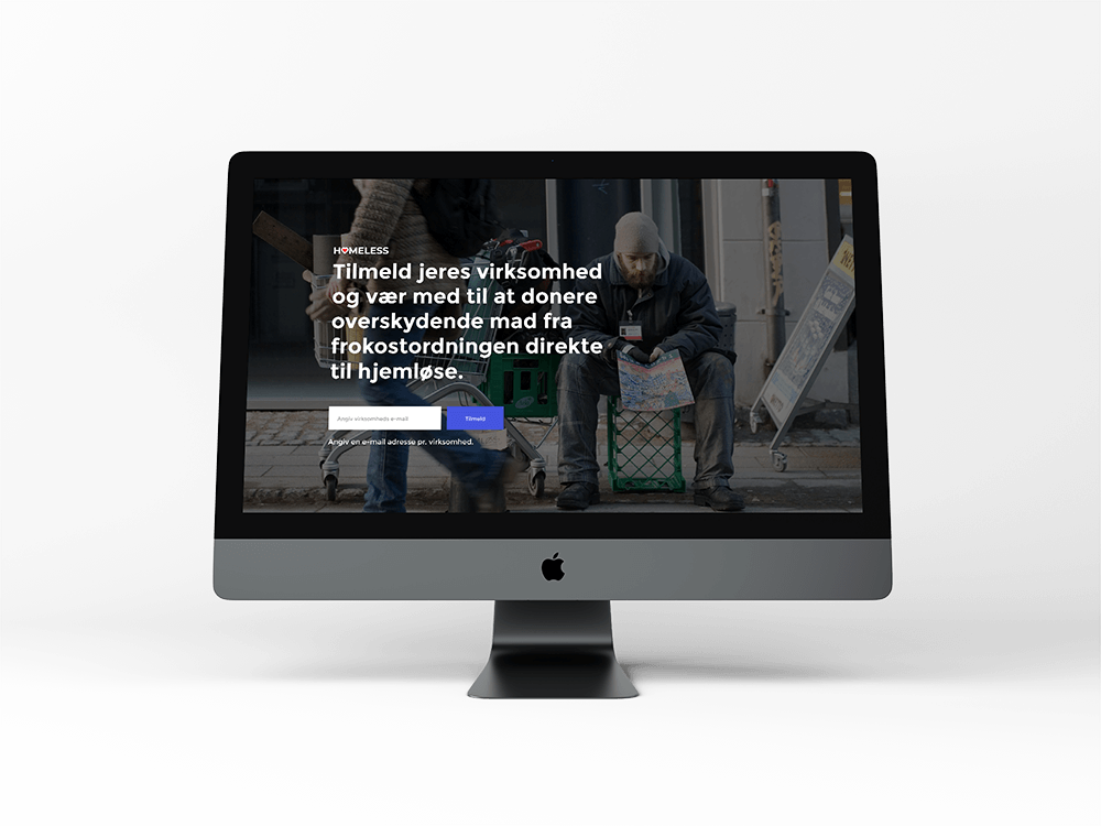 karoline, paarup, portfolio, website, project, homeless, pretotyping, fake, door, testing